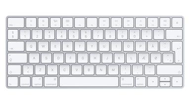 Apple Magic Keyboard Trådløs Dansk Hvid Sølv