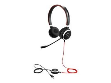 Jabra Evolve 40 UC Stereo Headset Zwart