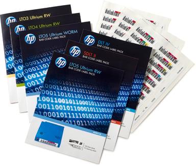 HPE LTO-5 Ultrium RW Bar Code Label Pack