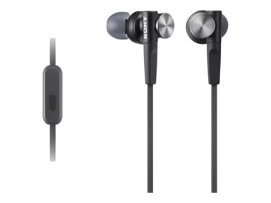 Sony MDR-XB50AP In-Ear hodetelefoner med mikrofon Svart