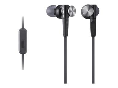Sony MDR-XB50AP In-Ear hörlurar med mikrofon Svart