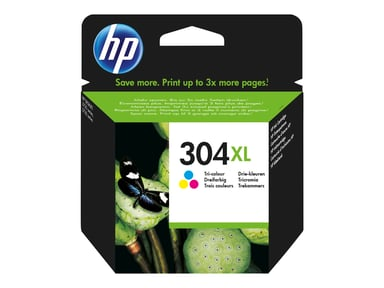 HP Bläck Tri-Color No.304XL - Deskjet 3720/3730/3732