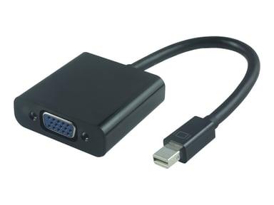 Microconnect Mini Displayport-VGA m-F Black