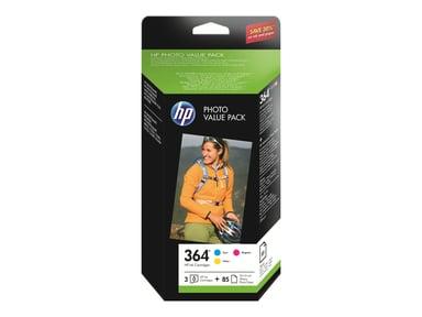HP Blæk Value Pack (C/M/Y) No.364 + 50 Sheet 10X15cm Foto Paper