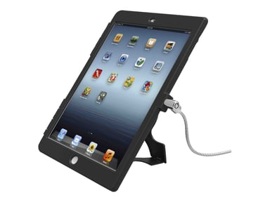 Maclocks Compulocks Ipad Lockable Case Bundle With T-bar Cable Lock And Ipad Air Security Case / Cover Black