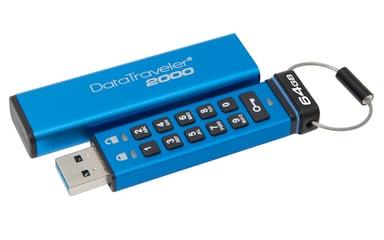 Kingston DataTraveler 2000 64GB USB 3.0 / USB-C 256-bit AES-XTS