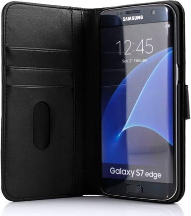 Cirafon Genuine Leather Wallet Samsung Galaxy S7 Edge Musta nahka