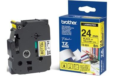 Brother Tape TZe-651 24mm Svart/Gul null