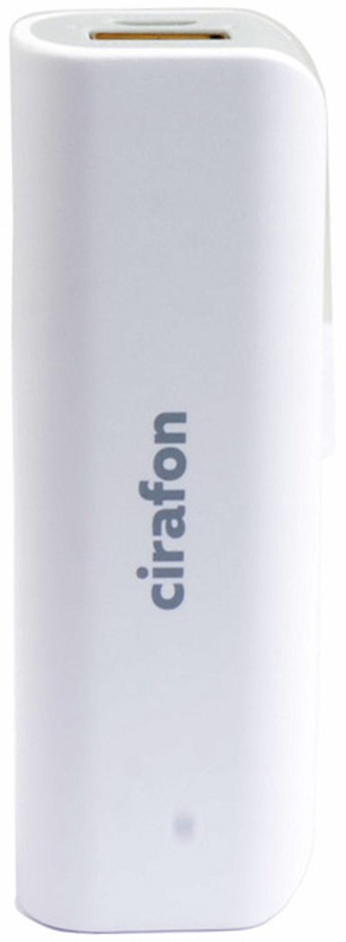 Cirafon Powerbank 2,600milliampere hour 1A Vit