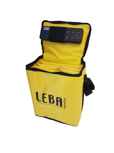 Leba Notebag With 5-Ports USB Charge Keltainen
