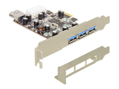 Delock PCI Express Card > 3 x extern + 1 x intern USB 3.0