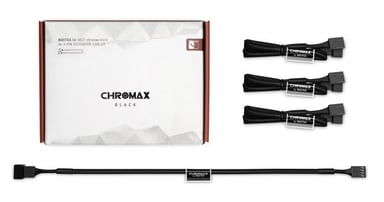 Noctua Na-sec1 Chromax Ext Cable 4X4-Pin 30cm Black null
