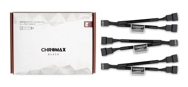 Noctua Na-Syc1 Chromax Y-Cable 4-Pin 11.5cm Black