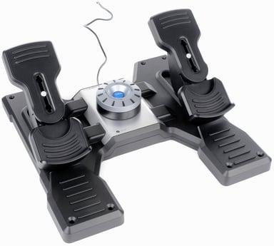 Logitech Pro Flight Rudder Pedals Musta