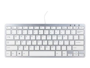 R-Go Tools Compact Keyboard Langallinen US Hopea Valkoinen