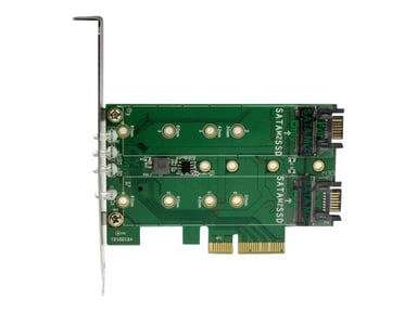 Startech 3PT M.2 SSD Adapter Card 1x PCIe (NVMe) 2x SATA M.2 null