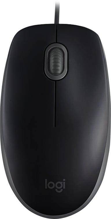 Logitech B110 Silent 1,000dpi Muis Met bekabeling Zwart