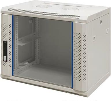 "Toten 19"" Wall Cabinet 12U 600X450 Glassdoor White"
