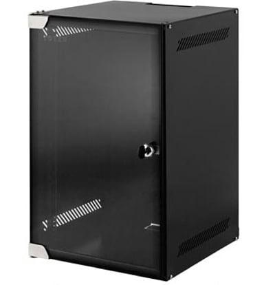 """Toten 10"""" Wall Cabinet 12U 280X310 Glassdoor Black"""