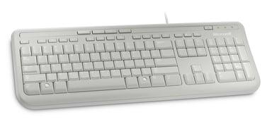 Microsoft Wired Keyboard 600 Langallinen Englanti kansainvälinen Valkoinen