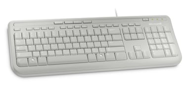 Microsoft Wired Keyboard 600 - tangentbord Kabelansluten Internationell engelska Vit