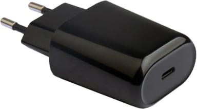Cirafon Virta-adapteri 1xUSB-C 18W Pd3.0/Qc4 Fast Charge for iPhone Musta