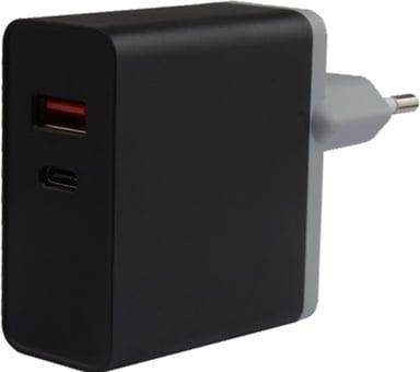 Cirafon Virta-adapteri 1xUSB-C 40W 1xUSB-A 12W Pd2.0/Qc4