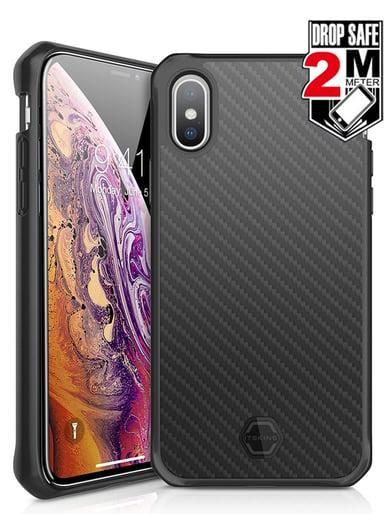 Cirafon Hybrid Carbon Drop Safe iPhone X Zwart