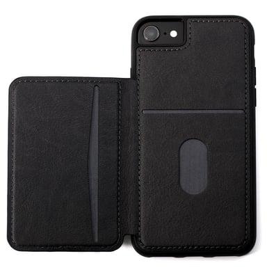 Cirafon Genuine Leather Flip Wallet iPhone 7; iPhone 8; iPhone SE (2020) Musta