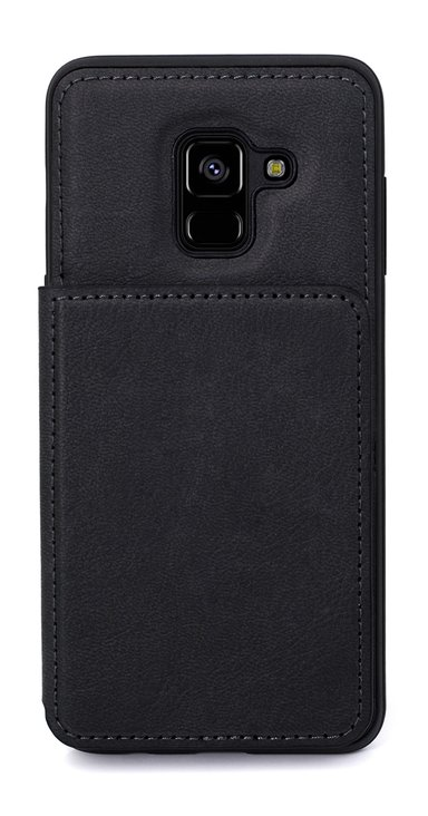 Cirafon Genuine Leather Flip Wallet Samsung Galaxy A8 (2018) Musta