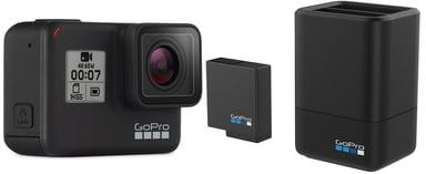 GoPro Hero7 Black + Dual Charger + Battery Svart