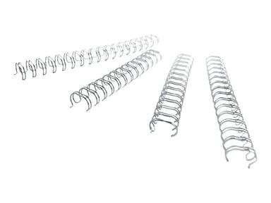 GBC Metal Spiral 3:1 NO4 6mm A4 Silver 100pcs