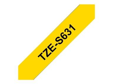 Brother Tape TZE-631 12mm Svart/Gul