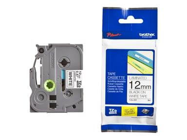 Brother Tape 12mm TZE231 Sort/Hvid