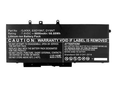 Coreparts Batteri för bärbar dator 46W(likvärdigt med: Dell 451-BBZG, Dell GJKNX, Dell 5YHR4, Dell DY9NT, Dell 0DY9NT)