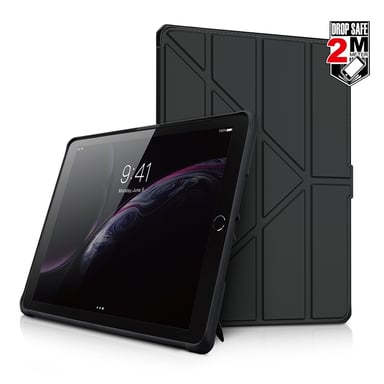 "Cirafon Hybrid Folio Drop Safe PU Leather 9.7"" iPad 5th gen (2017) iPad 6th gen (2018) Svart"