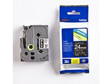 Brother Tape TZE-355 24mm Hvit/Svart