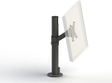 SpacePole Pole Skærmbeslag VESA 75/100 Hvid