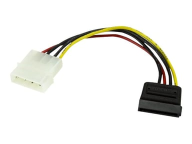 Startech 6in 4 Pin LP4 to SATA Power Cable Adapter 15-pins seriell ATA-strøm Hann 4-pin intern strøm Hann