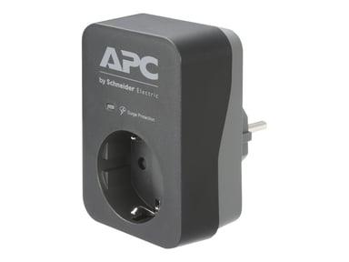 APC Essential Surgearrest PME1WB-GR 16A Ulkoinen 1kpl Harmaa Musta