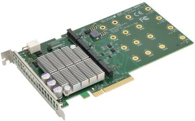 Supermicro AOC-SHG3-4M2P-O Quadsocket NVMe M2 Carrier Card null
