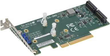 Supermicro AOC-SLG3-2M2-O NVMe Carrier Card null