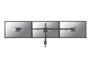 "Newstar Tilt/Turn/Rotate Triple Desk Mount (clamp) for three 10-27"" Monitor Screens, Height Adjustable"