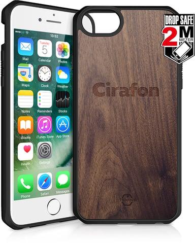 Cirafon Hybrid Fusion Drop Safe iPhone 7; iPhone 8; iPhone SE (2020) Tumma puu