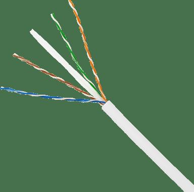 Direktronik Bulk cable (slim) CAT 6 Uskjermet tvunnet parkabel (UTP) Hvit 100m