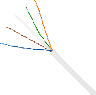 Direktronik Bulkkabel (slim) CAT 6 UTP (oskärmat tvinnat par) Vit 100m