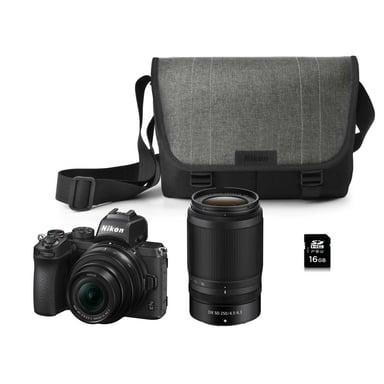 Nikon Z 50 + NIKKOR Z DX 16-50 VR + 50-250 VR + Bag + SD Card Kit null