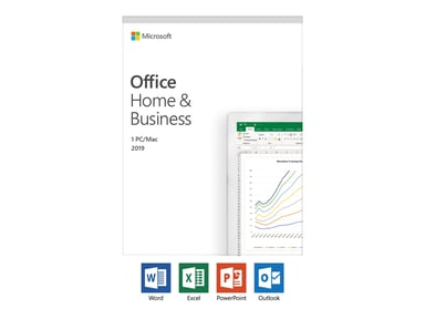 Microsoft Office Home & Business 2019 Svensk Medialess null
