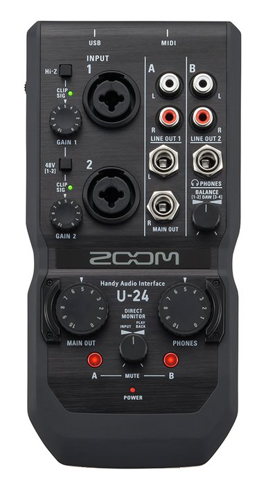 Zoom U24 Handy Audio Interface