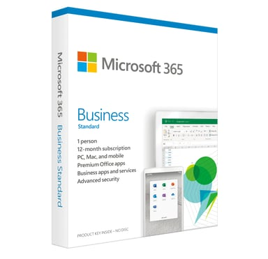 Microsoft 365 Business Standard Nor 1YR Subs Medialess